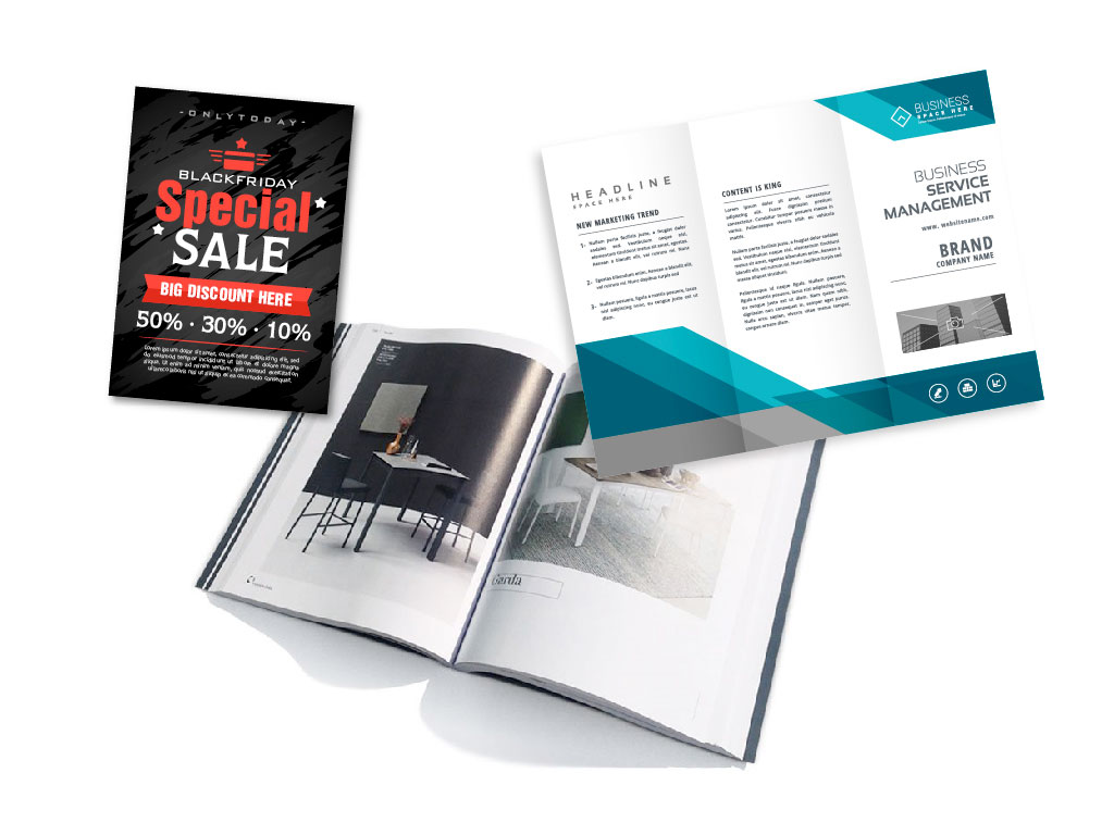 flyer depliant brochure catalogo