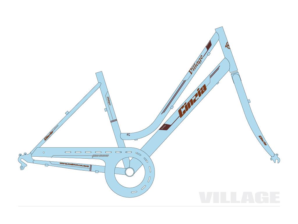 grafica bicicletta Village