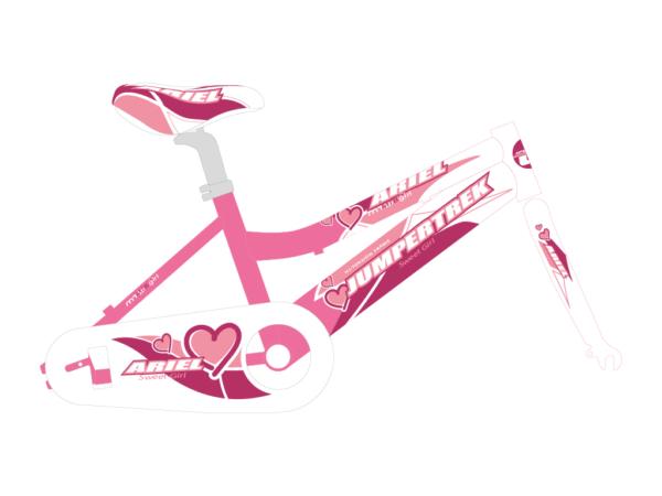 grafica bicicletta bambina ariel