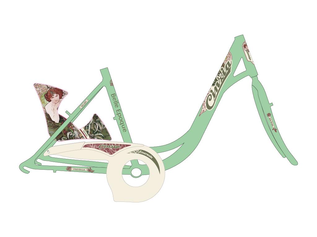 grafica bicicletta donna holland belle epoque
