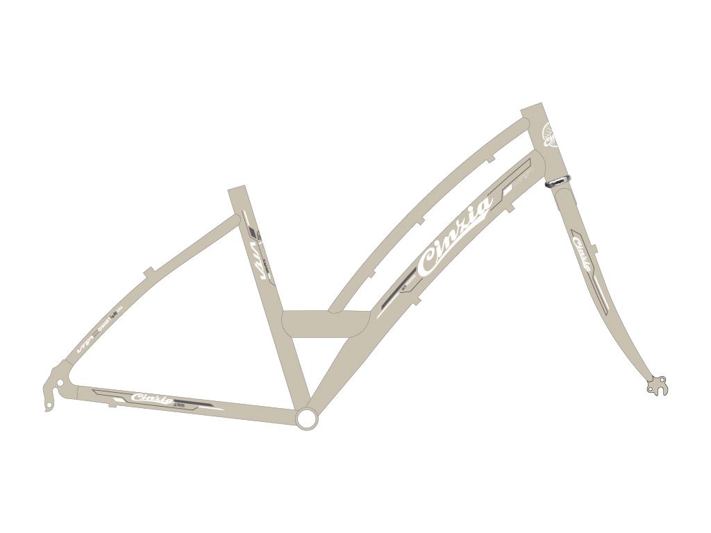 grafica bicicletta donna trekking vita
