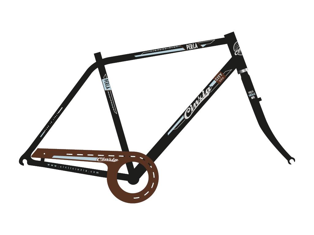 grafica bicicletta uomo city perla