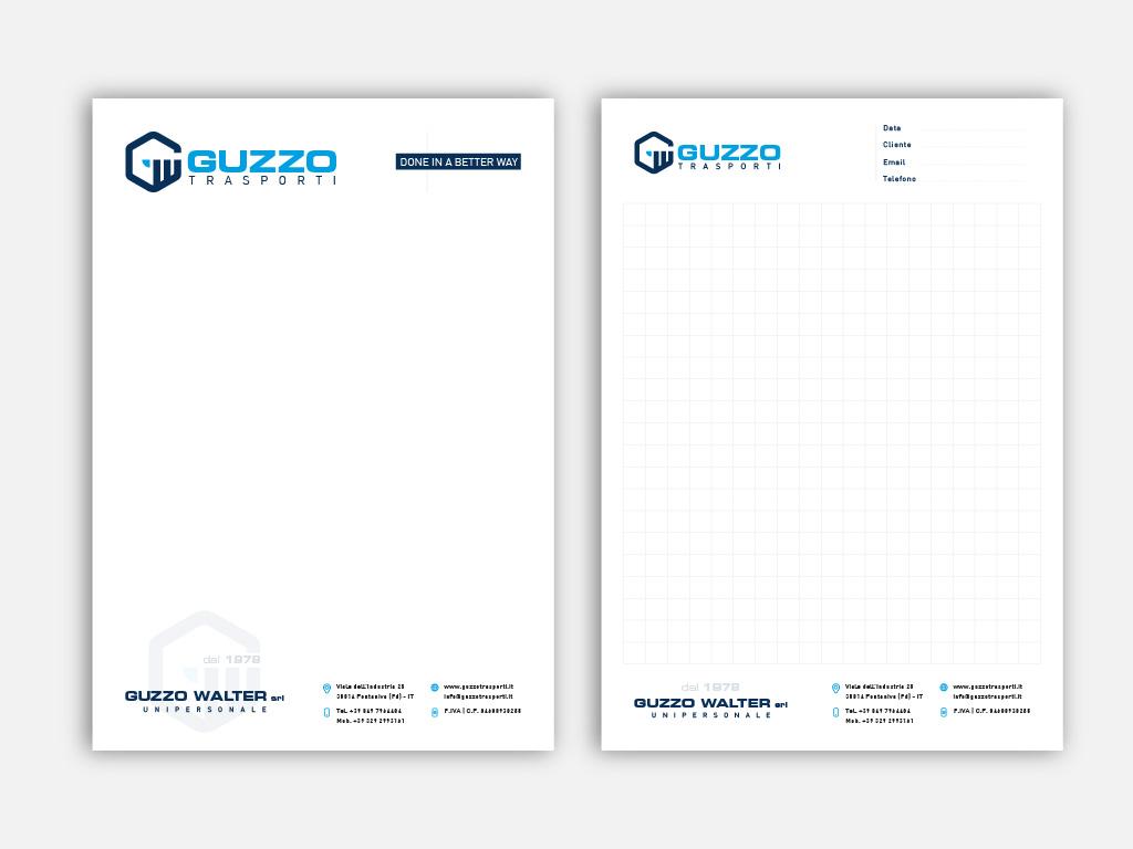 Carta intestata blocco notes Guzzo trasporti