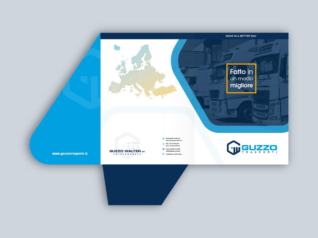 Cartellina Guzzo trasporti aperta fronte